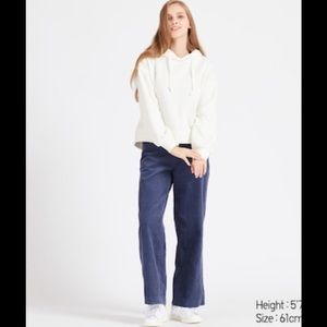 UNIQLO HIGH-WAISTED CORDUROY WIDE-LEG PANTS 10 12